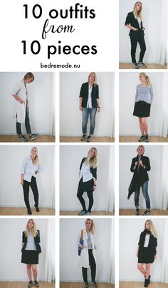 10 outfits from 10 pieces bedremode.nu - a mini capsule with my sustainable wardrobe