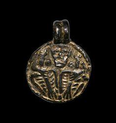 Viking Gilt Odin and Ravens Pendant, 10th Century AD