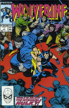 Final cover art by John Buscema for Wolverine #7, published by Marvel Comics, May 1989.