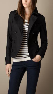 Cotton Poplin Trench Jacket