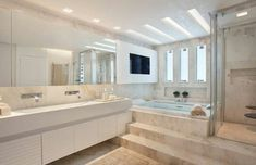 Youngsters Area Home Furnishings Bathroom Decoration - Freie Home Room Design, Interior Design Living Room, House Design, Dream House Exterior, Dream House Plans, Modern Master Bathroom, Interior Exterior, Residential Architecture, Home Decor Kitchen