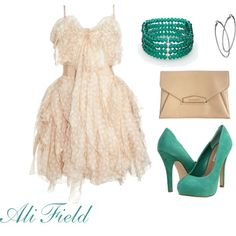Spring Teal, created by ali-field.polyvore.com. Yes please!