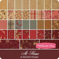 At Home Jelly Roll Blackbird Designs for Moda Fabrics - Moda Fabrics | Fat Quarter Shop