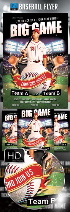 Baseball World Championships Sports Flyer  Font Arial Event