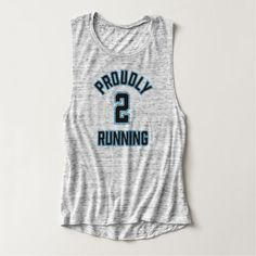 Proudly Two Running Active Maternity Wear Flowy Muscle Tank Top
