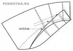 Выкройка отложного воротника с отрезной стойкой | pokroyka.ru-уроки кроя и шитья
