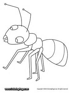 Free Cartoon Ant Coloring Pages