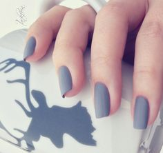 grey nails matte - Szukaj w Google
