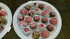 Valentines treats.  Chocolate oreo truffles.