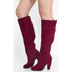 Bamboo Mozza-04 Suede Knee High Boots