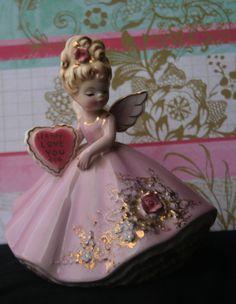 "Vintage JOSEF ORIGINALS "" I Love You""  Valentine Angel ""You're An Angel""  Series Made in Japan"
