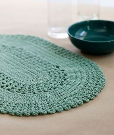 Table Lace Placemat free crochet pattern - 10 Free Placemat Patterns