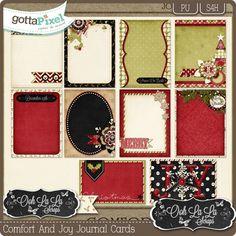 Comfort And Joy Journal and Pocket Scrapbooking Cards :: Gotta Pixel Digital Scrapbook Store  $2.99
