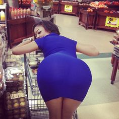 Bend over blue dress