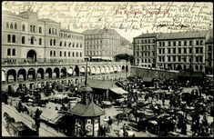 Christiania Kristiania Oslo  Youngstorvet . Oversikt  Utg N.K brukt 1911
