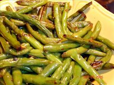 Garlic Green Beans. The only way to eat green beans as a side.