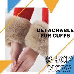 Warm up in style using the Detachable Fur Cuff! These dramatic cuffs feature dense faux fur, giving it a luxuriously fashionable look with a comfortable, warm feeling. Currently 50%OFF with Free Shipping!! Only on Neulons.com Winter Sale, Stay Warm, Faux Fur, Cuffs, Feelings, Footwear, Gift Ideas, Free Shipping, Shop