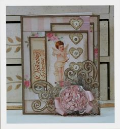 pretty Valentine from vintage images