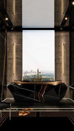 Dream House Interior, Luxury Homes Dream Houses, Dream Home Design, House Design, Bathroom Design Luxury, Luxury Interior Design, Best Interior, Modern Bathroom, Luxury Bathrooms