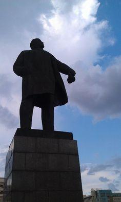 Lenin monument in Tyumen