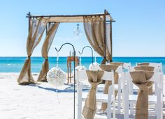 burlap wedding by princess wedding co destin fl