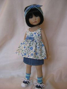 BLUE GEO   made to fit 13 Little Darling Effner by darladelight