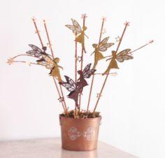Centro de mesa, se puede usar para esta Navidad!!! Elaborado con plantillas Estarfácil