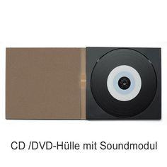 Werbemittel - Individuelle CD/DVD-Huelle aus Karton mit Soundmodul - besonderer Werbeartikel.  Alle erkennbaren Marken/Warenzeichen dienen lediglich der Veranschaulichung. Die abgebildeten Marken sind vom jeweiligen Inhaber urheberrechtlich geschützt.