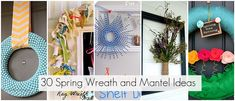 Fabulous ideas for wreaths.. check out the one for the vintage hankie flowers.. very easy and just sweet-looking!