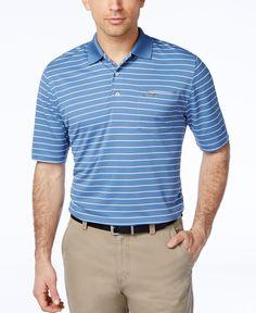 Greg Norman for Tasso Elba Men's 5 Iron Performance Striped Golf Polo
