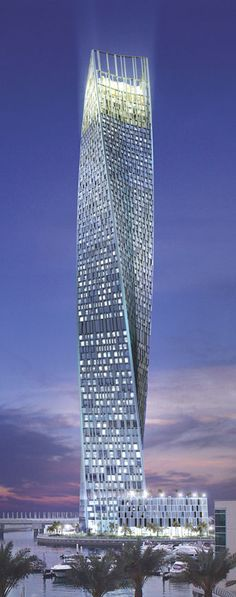 Cayan Tower, former Infinity Tower, Dubai, UAE by Skidmore, Owings & Merrill (SOM) Architects :: 76 floors, height 306m