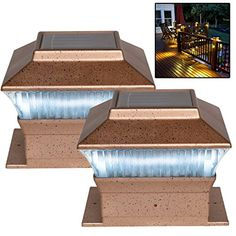 2 x Bronze Solar Powered Led Outdoor Garden Post Deck Cap Square Fence Lights Solalite http://www.amazon.co.uk/dp/B00ISWE7L0/ref=cm_sw_r_pi_dp_y-T6vb1W4ZDQQ
