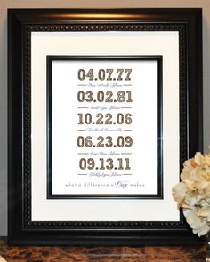 Personalized Wedding and Family Love Wall Art Print