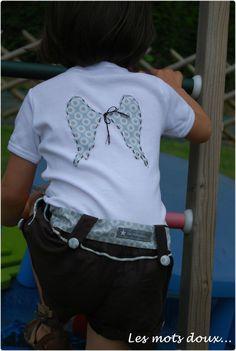 48f8a2d4e595 idée custo tee-shirt Petite Couture, Couture Enfant, Mots Doux, Folie,