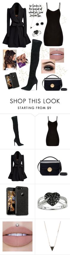 """Black"" by annahlysis on Polyvore featuring Kendall + Kylie, Marni, Ice, Lana, Thomas Sabo, ASAP, blackbooties and powerlook"