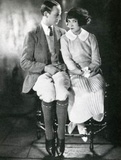 Fred Astaire and his older sister and dance partner Adele photographed in 1926. As children they had a dance act which one newspaper proclai...