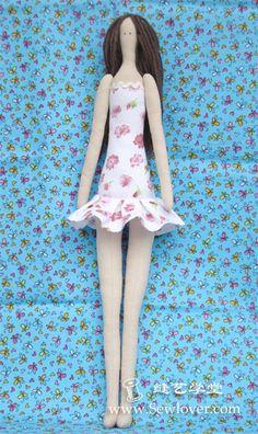 Tilda muñeca hacer tutoriales - SewLover, costura Arts Academy | tejido tutorial juego | Juego de tela patrón