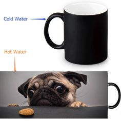 Pet Love Dog Mug who can help me - changing color magic coffee mugs cup best gift for your friends or yourself Dog Coffee, Coffee Mugs, Color Magic, Bar, Mug Cup, Dog Design, I Love Dogs, Dog Lovers, Best Gifts