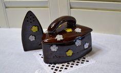 Vintage Redware Brown  Sugar Bowl and Shaker by PanchosPorch