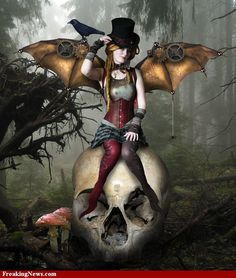 Browse Steampunk Fantasy pictures, photos, images, GIFs, and videos on Photobucket Larp, Fantasy World, Fantasy Art, Dragons, Steampunk Fairy, Steampunk Wings, Steampunk Dolls, Steampunk Halloween, Steampunk Crafts