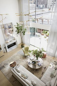 An Airy, Natural Living Room Feels Equal Parts Chic And Welcoming. Living  Room Designs
