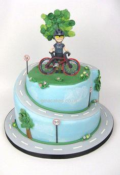 Birthday Cyclist Cake Birthday Cyclist Cake - Birthday Cyclist C. Birthday Cake Video, 50th Birthday Cakes For Men, 40th Cake, Homemade Birthday Cakes, Adult Birthday Cakes, Themed Birthday Cakes, Themed Cakes, Bicycle Cake, Bike Cakes