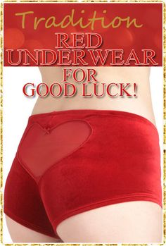 New Year's Tradition  -  Red Underwear // Every country has it's own traditions, here in Turkey, but I believe also in Italy and Spain, they wear new red underwear on New Year's eve for good luck!