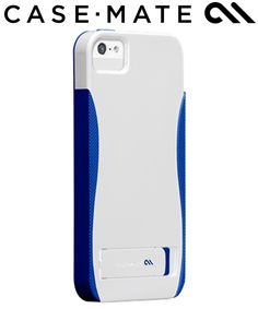Case-Mate Apple iPhone 5 / 5S Pop Case - Wit/Blauw