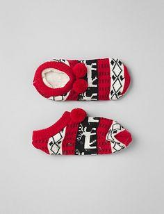 Pom Pom Slipper Socks | Dressbarn