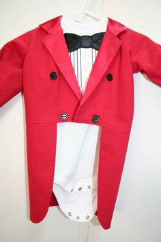 Circus Ringmaster Tuxedo Jacket with Tails - Fully Lined in Satin - Birthday, Wedding, Photo Prop, Circus Ringmaster, Halloween Costume. $44.50, via Etsy.