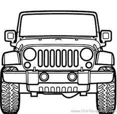 Jeep Rubicon Model on Behance Jeep Rubicon, Jeep 4x4, Jeep Drawing, Jeep Cake, Coloring Books, Coloring Pages, Car Vector, Jeep Accessories, Car Drawings