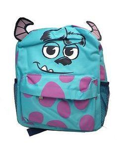 6f049207c7f Disney Monsters Inc Sulley face Backpack Disneyland bag kawaii Kids cute  ears