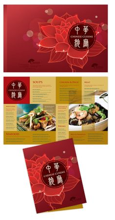 Menu Design For Chinese Restaurant  Food    Chinese