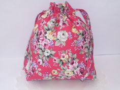 New  Vintage Floral print drawstring bag by rubyandlen on Etsy, £10.00
